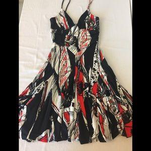 Joseph Ribhoff Dress  Blk Red White Size 6